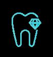 Zahn-Icon blau