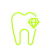 Zahn-Icon grün