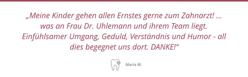 Patientenstimme Maria M.