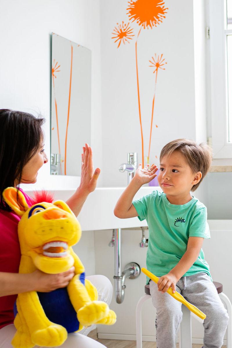 High Five beim Kinderzahnarzt