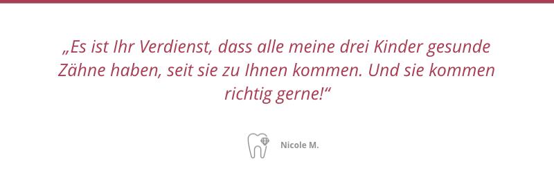 Patientenstimme Nicole M.